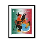 El Gallo Atractivo Framed Panel Print