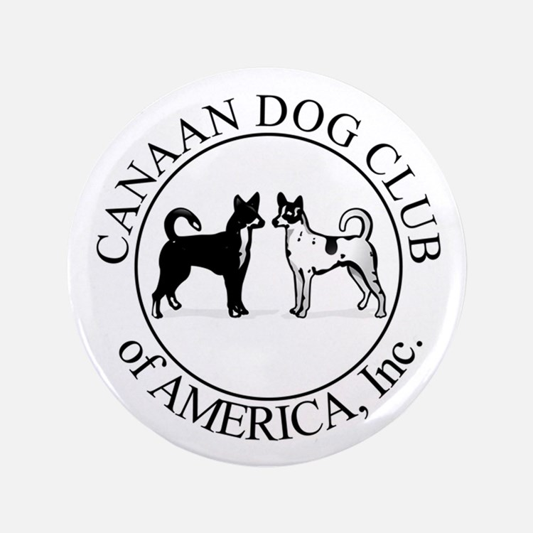 "Canaan Dog Club of America Lo 3.5"" Button"