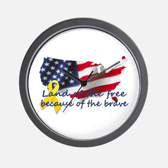 Land of the free ... Wall Clock