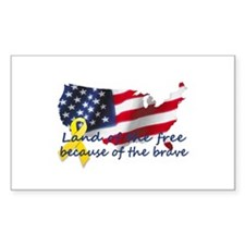 Land of the free ... Rectangle Decal