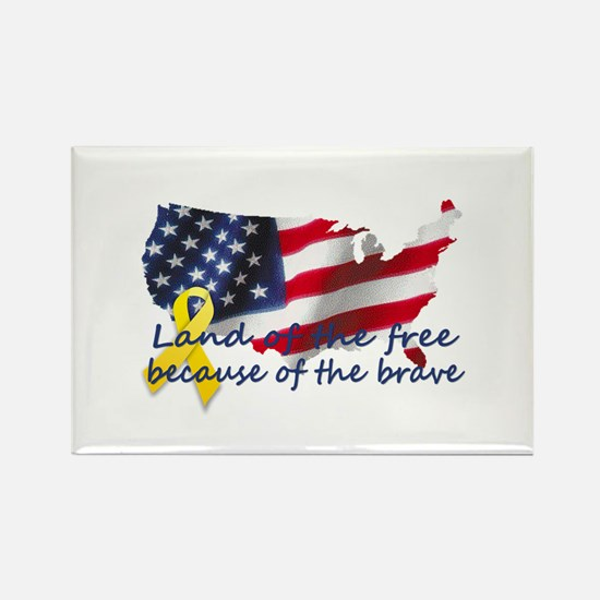 Land of the free ... Rectangle Magnet