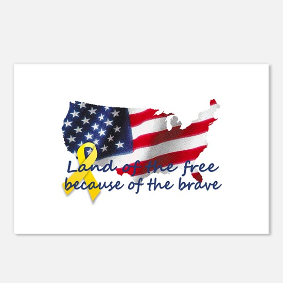 Land of the free ... Postcards (Package of 8)