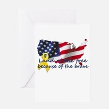 Land of the free ... Greeting Card