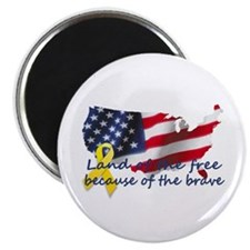 """Land of the free ... 2.25"""" Magnet (10 pack)"""