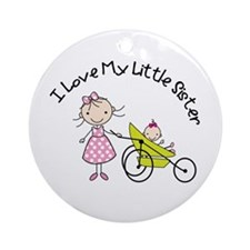big sister little sister matching Ornament (Round)