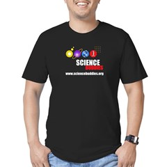 Men's Science Buddies Fitted Black T-Shirt