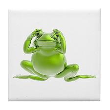 Frog - See No Evil! Tile Coaster