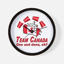 Team Canada Flip Cup Wall Clock