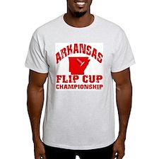 Arkansas Flip Cup Ash Grey T-Shirt