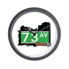 73 AVENUE, QUEENS, NYC Wall Clock