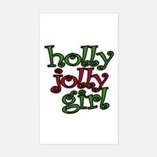 Holly Jolly Girl Rectangle Decal