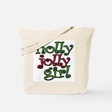 Holly Jolly Girl Tote Bag