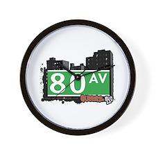 80 AVENUE, QUEENS, NYC Wall Clock