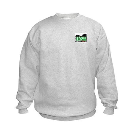 102 ROAD, QUEENS, NYC Kids Sweatshirt