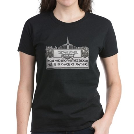 People Who Enjoy Meetings Women's Dark T-Shirt