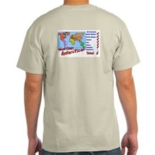 Continents Visited Ash Grey T-Shirt