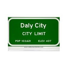Daly City Rectangle Magnet