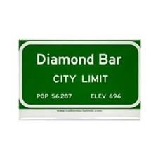 Diamond Bar Rectangle Magnet