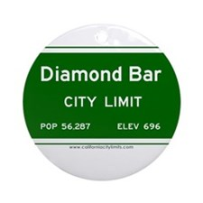 Diamond Bar Ornament (Round)