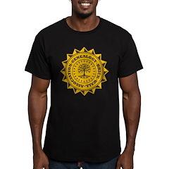 Brick Wall II Men's Fitted T-Shirt (dark)