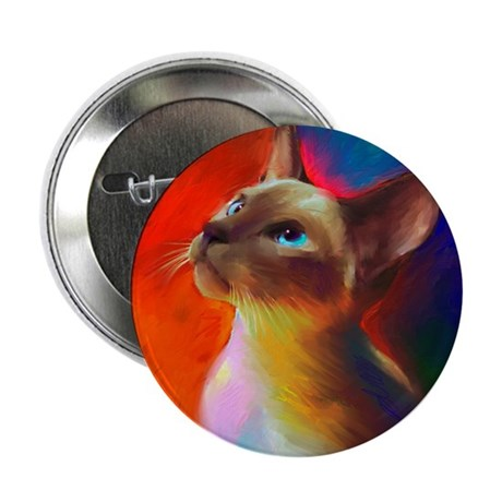 "Siamese cat 2.25"" Button (10 pack)"
