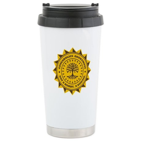 Geneaholics Anonymous Stainless Steel Travel Mug