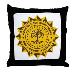 Geneaholics Anonymous Throw Pillow