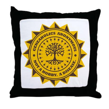 Geneaholics Anonymous Throw Pillow