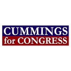 Cummings for Congress bumper sticker