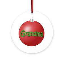 Grandma Chritmas Ornament (Round)