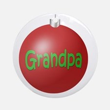 Grandpa Christmas Ornament (Round)