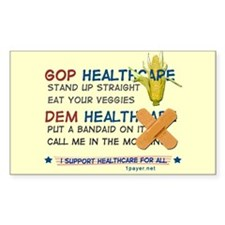 The Two Party System Rectangle Decal