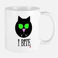 """I Bite"" Black Vamp Cat Mug"