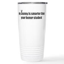 my bunny is smarter than your Thermos Mug