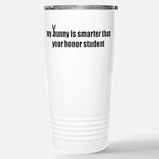 my bunny is smarter than your Travel Mug