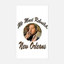 We Must Rebuild New Orleans Rectangle Decal