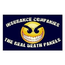 Healthcare Death Panels Rectangle Decal