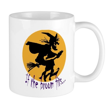 """If the broom fits"" flying wi Mug"