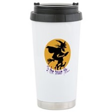 """If the broom fits"" flying wi Travel Mug"