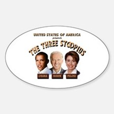 The Three Stoopids Oval Decal