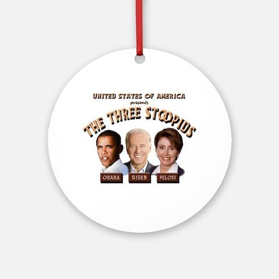 The Three Stoopids Ornament (Round)
