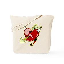 Tattoo Devil Heart & Arrow Tote Bag