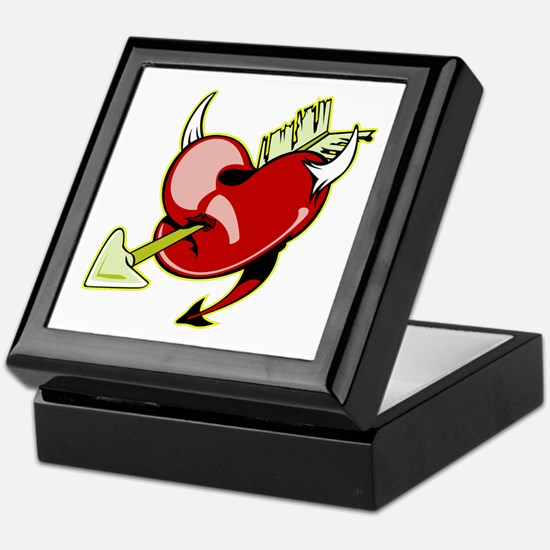 Tattoo Devil Heart & Arrow Keepsake Box