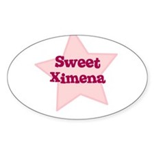 Sweet Ximena Oval Decal