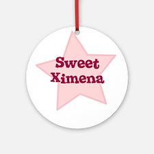 Sweet Ximena Ornament (Round)
