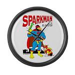 Sparkman & Blinkster Large Wall Clock