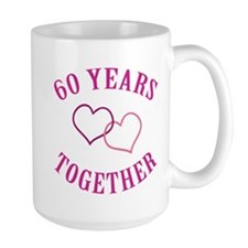60th Anniversary Two Hearts Mug