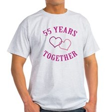 55th Anniversary Two Hearts T-Shirt
