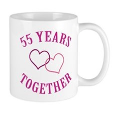 55th Anniversary Two Hearts Mug