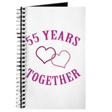 55th Anniversary Two Hearts Journal